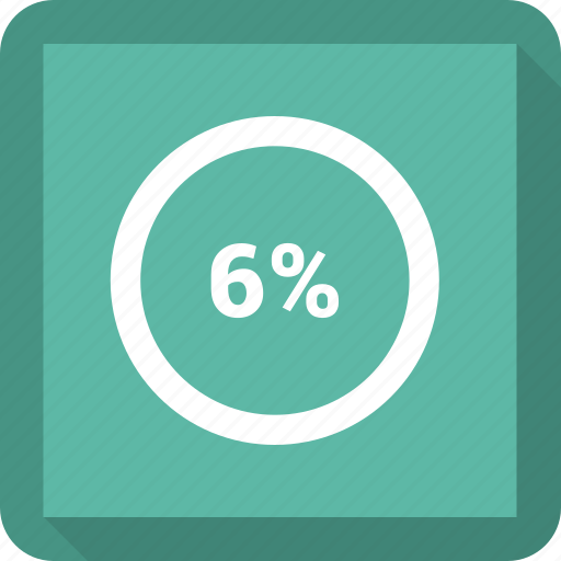 info, information, percent, six icon