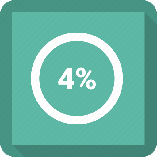 Circle, four, percentage icon - Download on Iconfinder