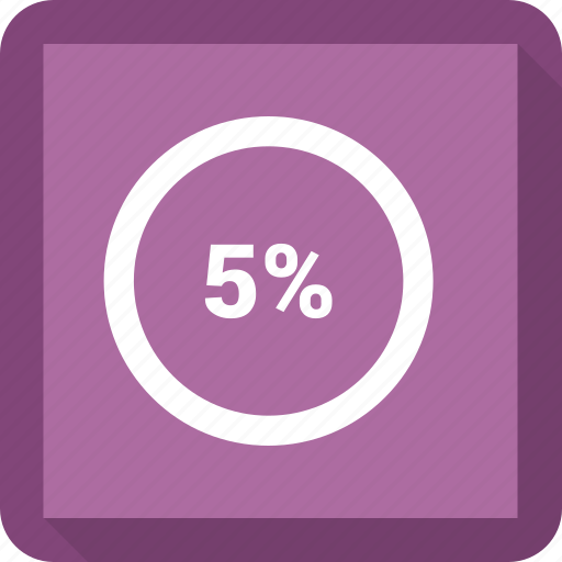 circle, five, percentage icon