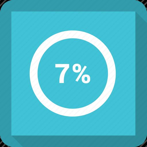 Seven percentage icon - Download on Iconfinder on Iconfinder