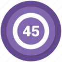 counting, forty five icon