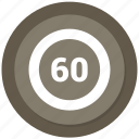 counting, sixty icon