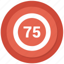 counting, seventy five icon