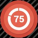 graph, pie, pie chart, pie graph, seventy, statistics icon