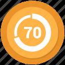 graph, pie, pie chart, seventy, statistics icon