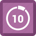 chart, count, number, ten icon