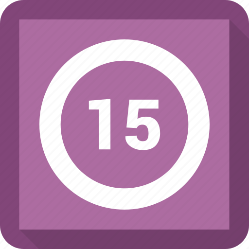 Fifteen, rate, percent, revenue icon