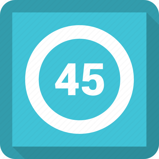 data, forty five, graph icon