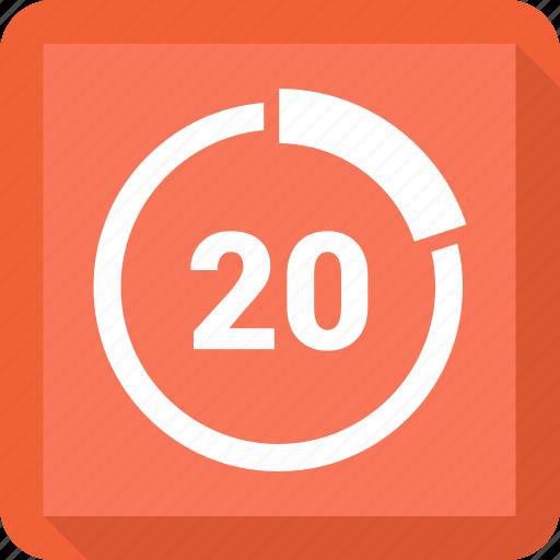 graphic, percent, rate, twenty icon