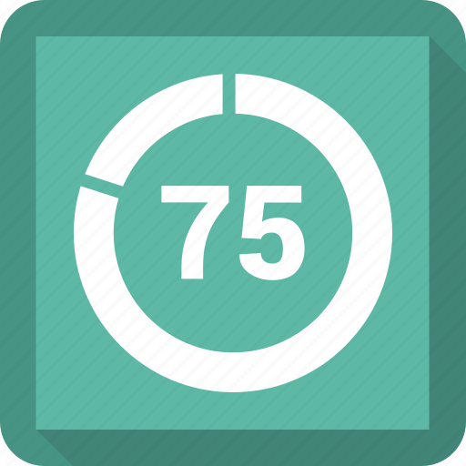 number, seventy five icon