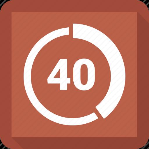 Circle chart, forty, circle, chart, pie chart icon
