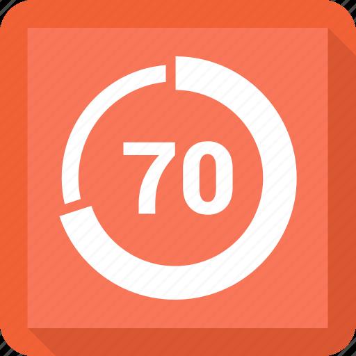 data, percent, save, seventy icon