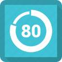 data, eighty, graphic, info icon