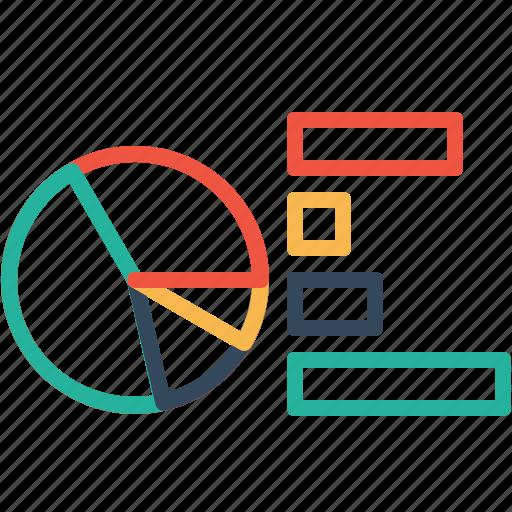 analysis, bar, chart, measure, pie, report, statics icon