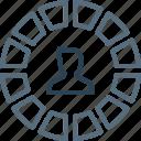 avatar, chart, employee, graph, male, performance, user