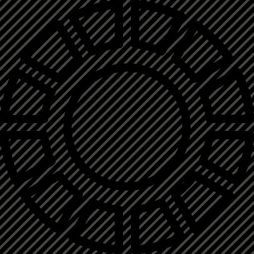 bar, chart, element, gauge, graph, infographic, pie icon