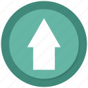 arrow, green, top, up icon