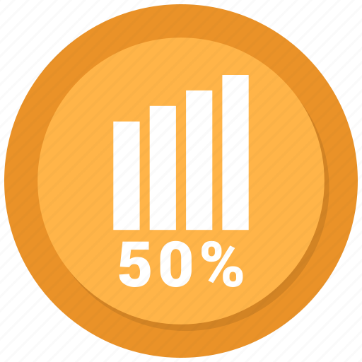 asset, fifty, growth, report, statistics icon