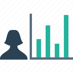 analysis, chart, employee, graph, numbers, performance, report icon