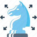 chess, knight, marketing, plan, planning, strategy, wayout icon
