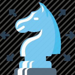 chess, knight, marketing, plan, planning, strategy, wayout icon