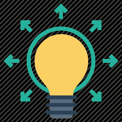bulb, creative, idea, mind, productivity, startup, thinking icon