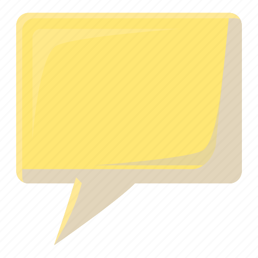bubble, cartoon, message, shape, speech, square, talk icon