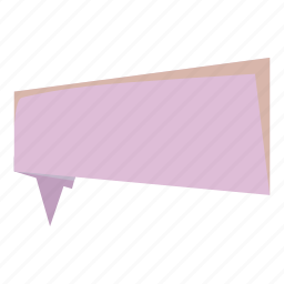 abstract, banner, cartoon, lilac, origami, paper, ribbon icon