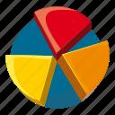 business, cartoon, chart, data, diagram, pie, report