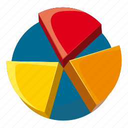 business, cartoon, chart, data, diagram, pie, report icon