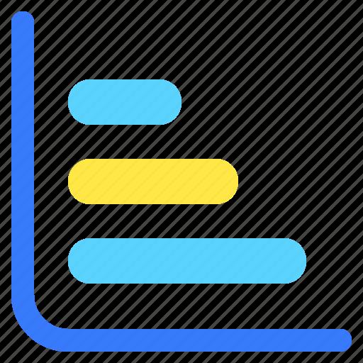 bar, chart, graph, horizontal, info, infochart, infographic icon