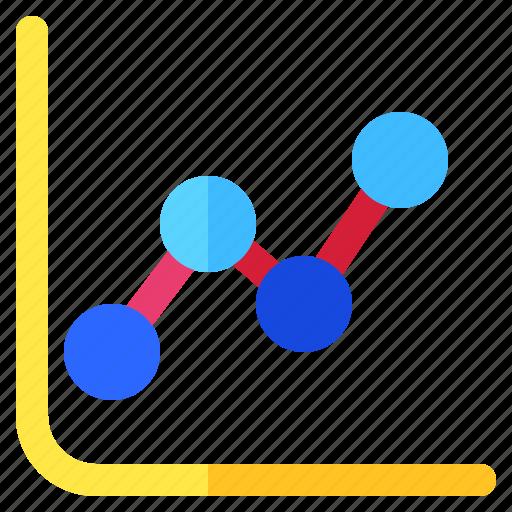 chart, dot, graph, info, infochart, infographic, line icon