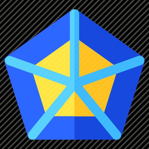 chart, graph, info, infochart, infographic, pentagonal icon