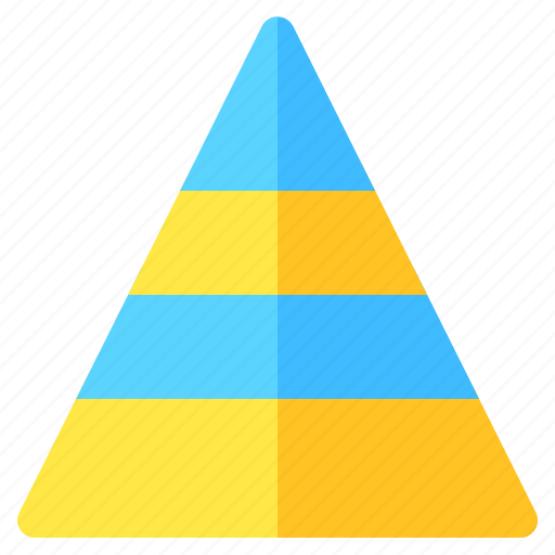 chart, graph, info, infochart, infographic, pyramid icon