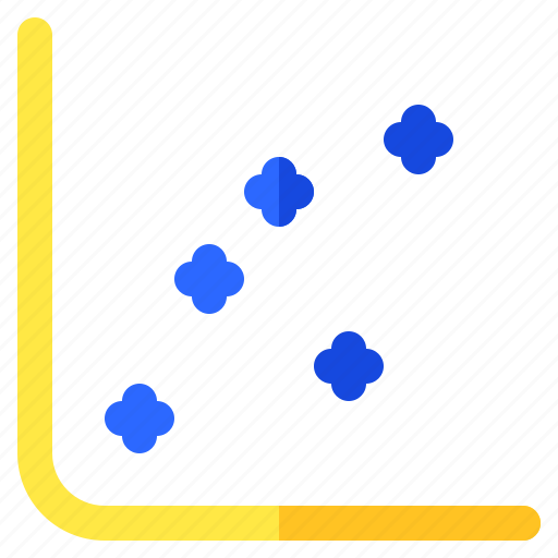 chart, graph, info, infochart, infographic, scatter icon