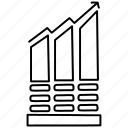 bar, chart, growth