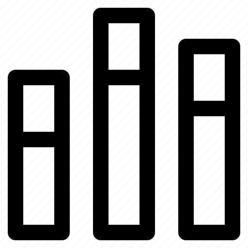 bar, chart, dual, graph, info, infochart, infographic icon