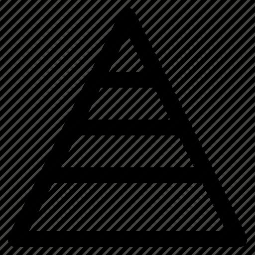chart, graph, info, infochart, infographic, pyramid icon