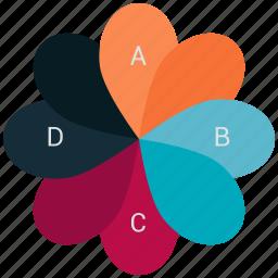 chart, dil, graph, heart, pie, piechart icon