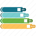 analytics, infographic, line graph, pie chart, statistics icon