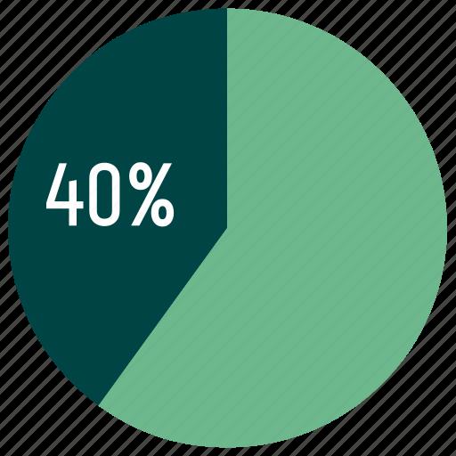 chart, diagram, infographics, percent, pie chart, report, statistics icon