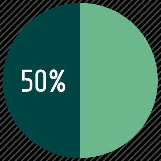 business, diagram, infographics, interest, percent, pie chart icon