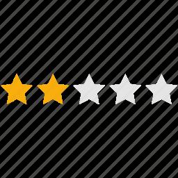 analysis, bar, chart, evaluation, infographics, rating, stars icon