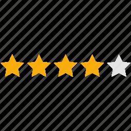 analysis, evaluation, graph, infographics, pie, rating, stars icon