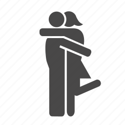 clench, couple, cuddle, embrace, kiss, pair, relationship, smooch icon