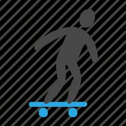 active, activity, blob, board, skate, skateboard, sport, street icon