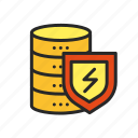 antivirus, data, database, information, protection, server, storage icon