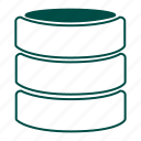 data, data store, data warehouse, database, information, repository, storage icon