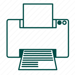 document, file, machine, page, paper, print, printer icon