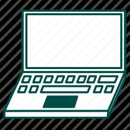 computer, laptop, macbook, notebook, pc, portable computer icon